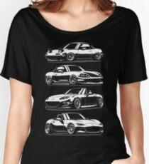 Generations. Mazda MX5 Miata Women's Relaxed Fit T-Shirt