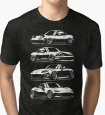 Generations. MX5 Miata Tri-blend T-Shirt