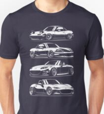 Generations. MX5 Miata T-Shirt