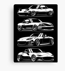 Generations. MX5 Miata Canvas Print