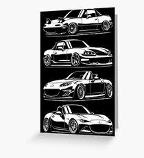 Generations. Mazda MX5 Miata Greeting Card
