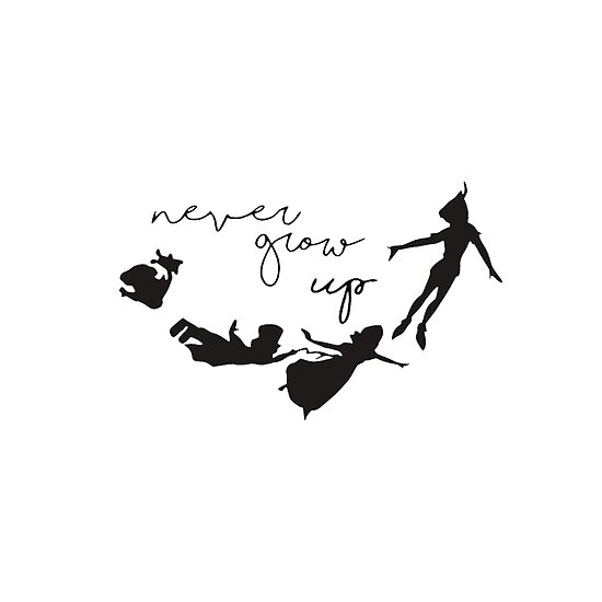 Never Grow Up Peter Pan Posters By Sianelisha Redbubble