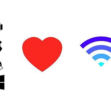OS Love Wifi color by NPenedo