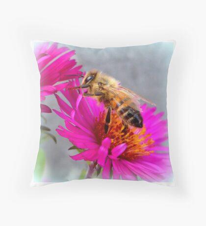 Wandering Bee Throw Pillow
