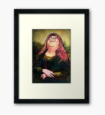 peter griffin as mona lisa Framed Print