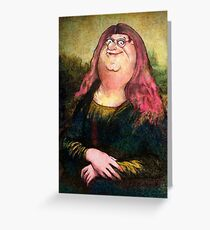 peter griffin as mona lisa Greeting Card