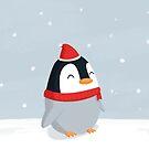 Christmas Penguin by cartoonbeing
