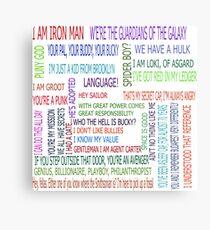 Superhero quotes Metal Print