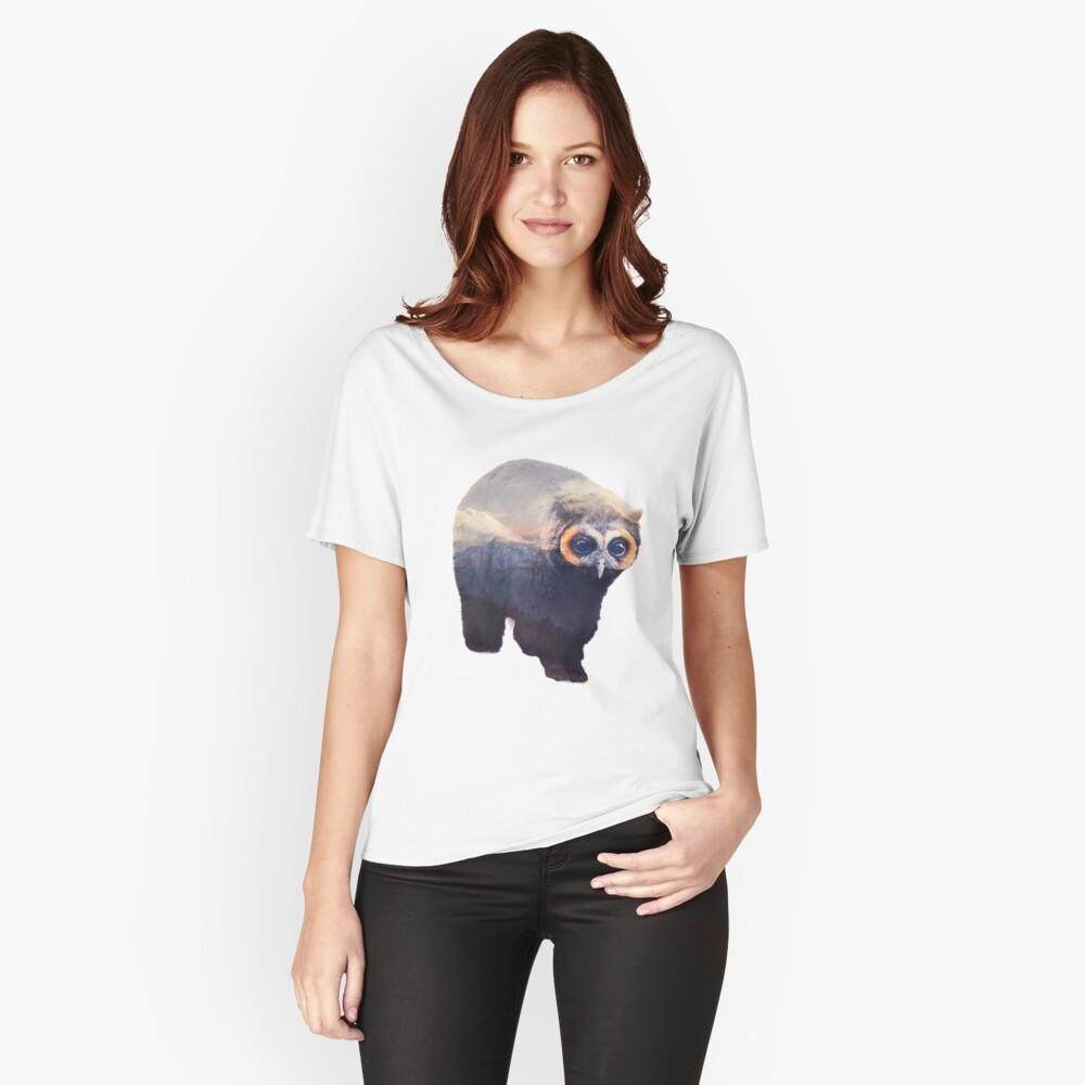 Owlbear in Mountains Women's Relaxed Fit T-Shirt Front
