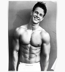 Young Marky Mark Wahlberg with Calvin Klein Poster