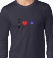 OS Love Wifi color Long Sleeve T-Shirt