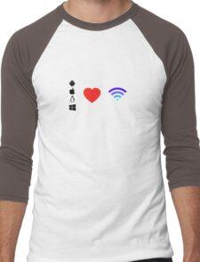OS Love Wifi color Men's Baseball ¾ T-Shirt