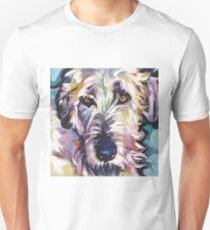 Irish Wolfhound Dog Bright colorful pop dog art T-Shirt