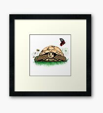 I Love my Tortoise cute cartoon Framed Print
