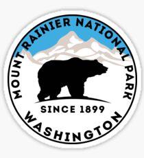 MOUNT RAINIER NATIONAL PARK BEAR WASHINGTON 1899 HIKING CAMPING CLIMBING Sticker