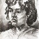 Uta With Short Hair by Barbara Pommerenke