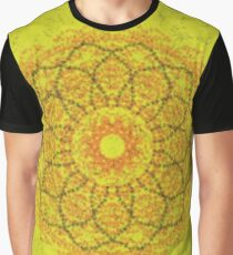 Yellow abstract pattern Graphic T-Shirt
