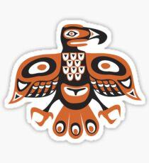 Bird - totem pole style Sticker
