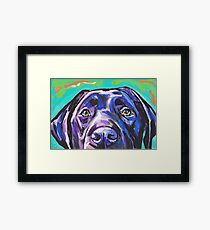 Lámina enmarcada Labrador Retriever Dog Bright colorful pop dog art