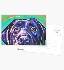 Labrador Retriever-Hund Helle bunte Pop-Hundekunst Postkarten