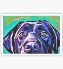 Labrador Retriever Dog Bright colorful pop dog art Sticker