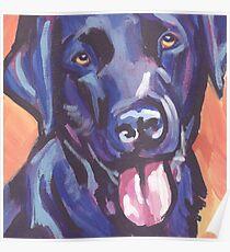 Labrador Retriever Dog Bright colorful pop dog art Poster