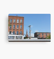 City Buildings Landscape Photograph Canvas Print