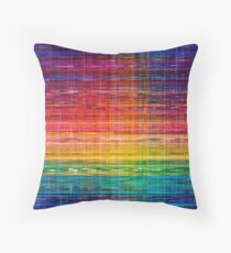 Rainbow lines seamless Mexican pattern Throw Pillow