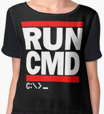RUN CMD C:\>_ Women's Chiffon Top