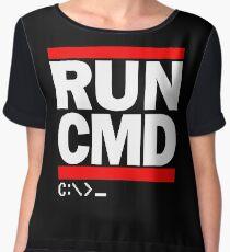RUN CMD C:\>_ Chiffon Top