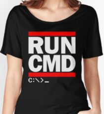 RUN CMD C:\>_ Women's Relaxed Fit T-Shirt