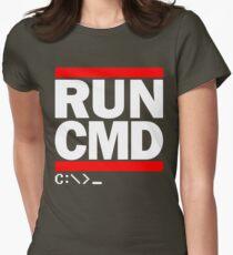 RUN CMD C:\>_ Womens Fitted T-Shirt