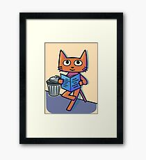 Street Cat Guide Book Framed Print