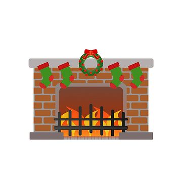 Christmas eve fire place by vdBurg