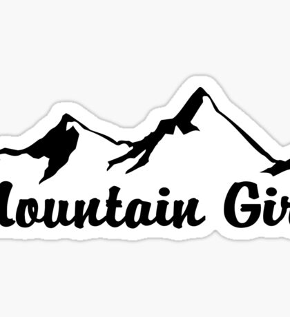 MOUNTAIN GIRL MOUNTAINS SKIING HIKING CLIMBING CAMPING NATIONAL PARK Sticker