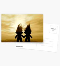 troll lovers in sepia Postcards