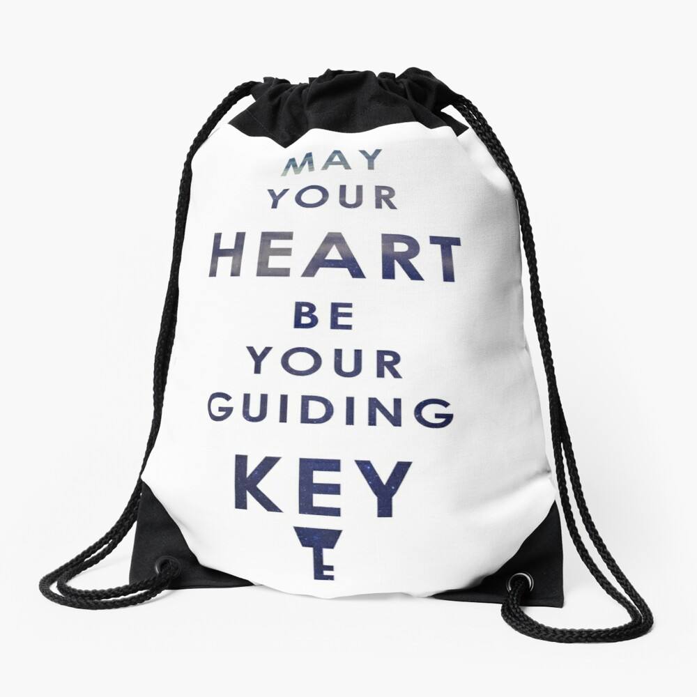 May your Heart be your guiding Key Drawstring Bag