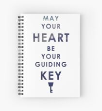 May your Heart be your guiding Key Spiral Notebook