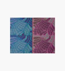 Blue and Purple Abstract Print Duvet Cover Art Board