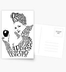 The Evil Queen - Calligram - color WHITE Postcards
