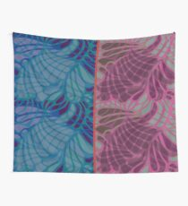 Blue and Purple Abstract Print Duvet Cover Wall Tapestry