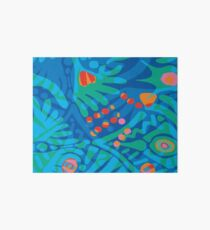 Colorful Tropical Print Abstract Art Mini Skirt in Blue and Green Art Board