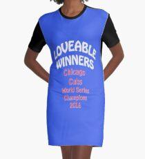 Liebevolle Gewinner Chicago Cubs World Series Champions 2016 T-Shirt Kleid