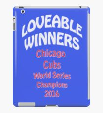LOVEABLE WINNERS Chicago Cubs World Series Champions 2016 iPad Case/Skin