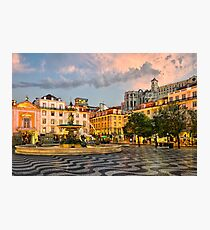 Rossio Square in Lisbon Photographic Print