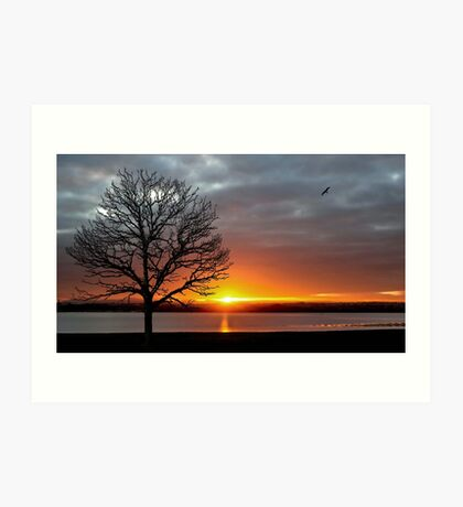 Sunset at Otterspool  Art Print