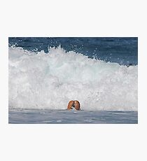 Playing in the Waves Photographic Print