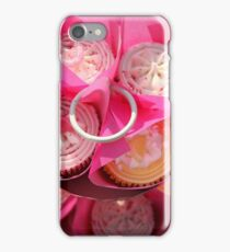 Pink cup cakes iPhone Case/Skin