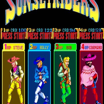 Sunset Riders Character Select by garyspeer
