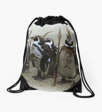 Planet of the Penguins Drawstring Bag